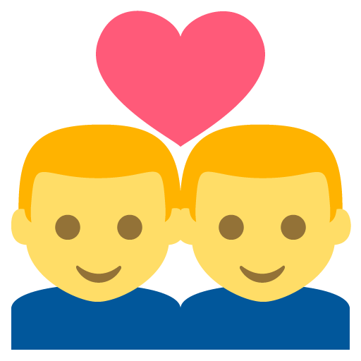 Couple (man,man) Emoji