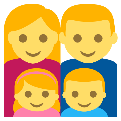 Family (man,woman,girl,boy) Emoji