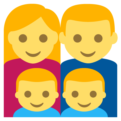 Family (man,woman,boy,boy) Emoji