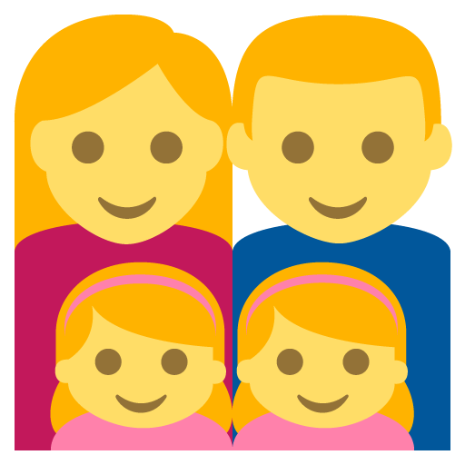 Family (man,woman,girl,girl) Emoji