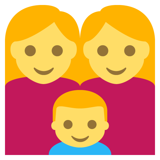 Family (woman,woman,boy) Emoji