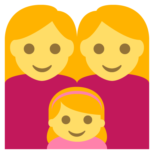 Family (woman,woman,girl)