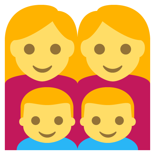 Family (woman,woman,boy,boy) Emoji