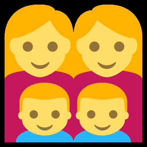 Family (woman,woman,boy,boy) Emoji