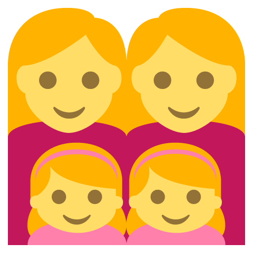 Family (woman,woman,girl,girl)
