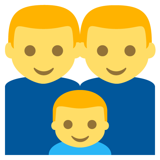 Family (man,man,boy) Emoji