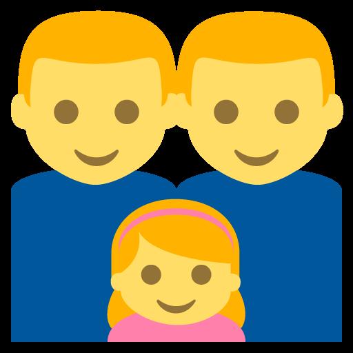 Family (man,man,girl) Emoji