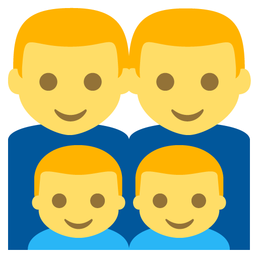 Family (man,man,boy,boy) Emoji