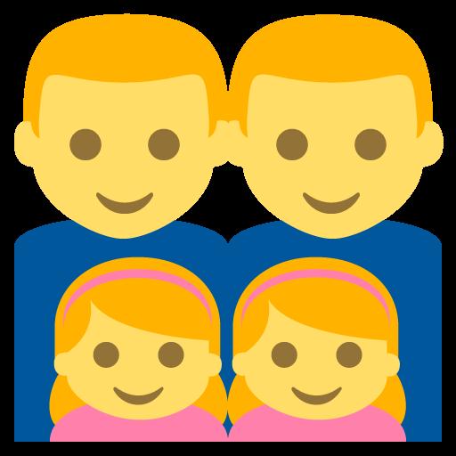 Family (man,man,girl,girl) Emoji