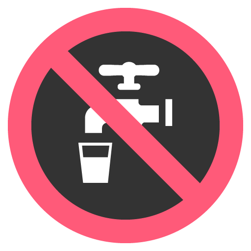 Non-Potable Water Symbol Emoji
