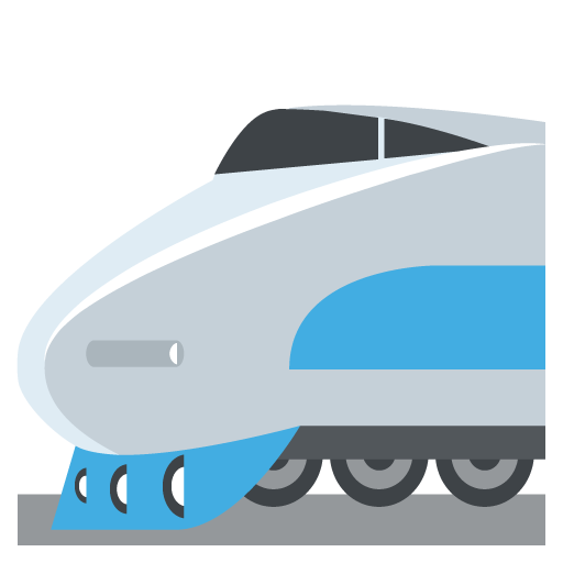 High-Speed Train With Bullet Nose Emoji