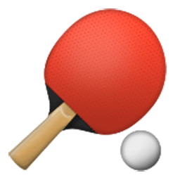 Table Tennis Paddle And Ball
