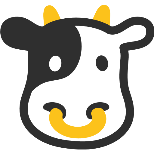 Cow Face Emoji for Facebook, Email & SMS | ID#: 7408 | Emoji