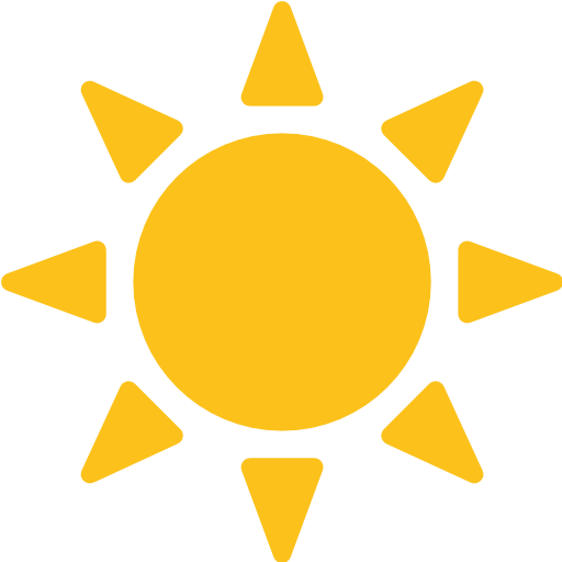 Black Sun With Rays Emoji