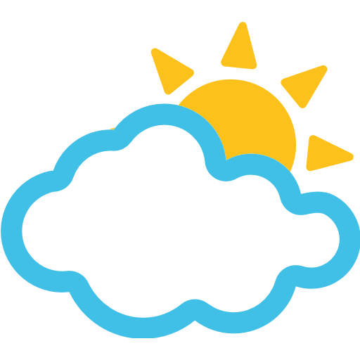 Sun Behind Cloud Emoji