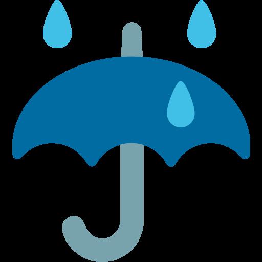 Umbrella With Rain Drops