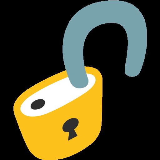 Open Lock Emoji