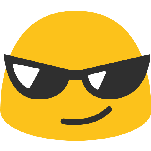 Smiling Face With Sunglasses Emoji