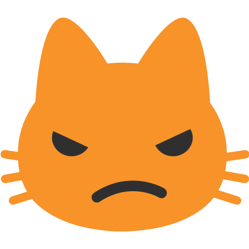 Pouting Cat Face Emoji