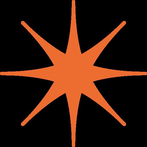 Eight Pointed Black Star Emoji