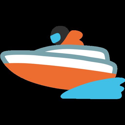 Speedboat Emoji