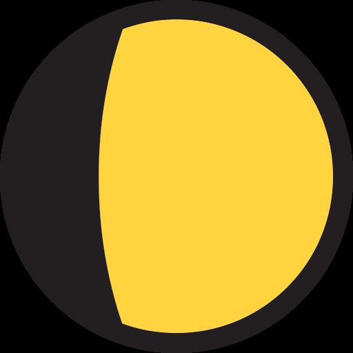 Waxing Gibbous Moon Symbol
