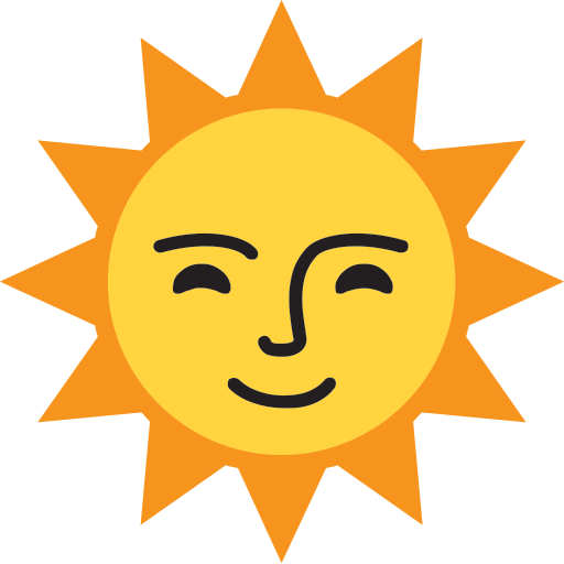 Sun With Face Emoji