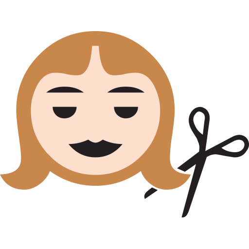 Haircut Emoji for Facebook, Email & SMS | ID#: 10031 | Emoji