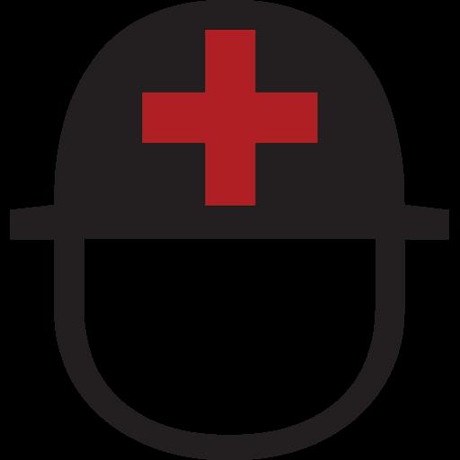 Helmet With White Cross