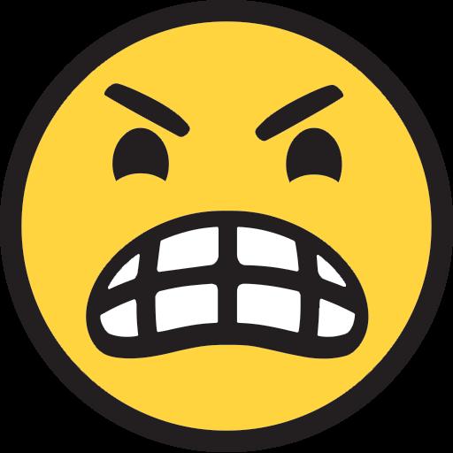 Image result for mean face emoji
