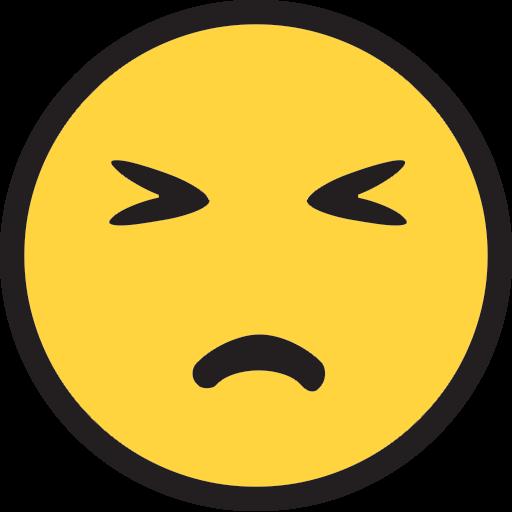Persevering Face Emoji