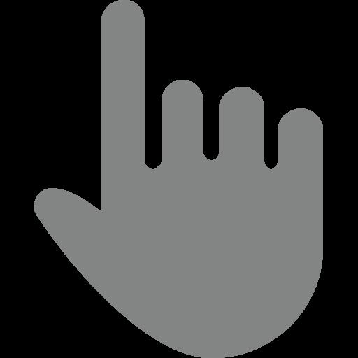 White Up Pointing Backhand Index Emoji
