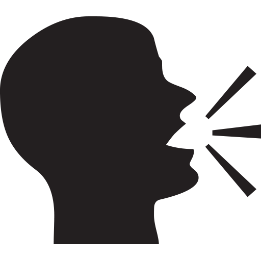 Speaking Head In Silhouette Emoji