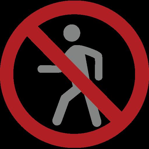 No Pedestrians Emoji
