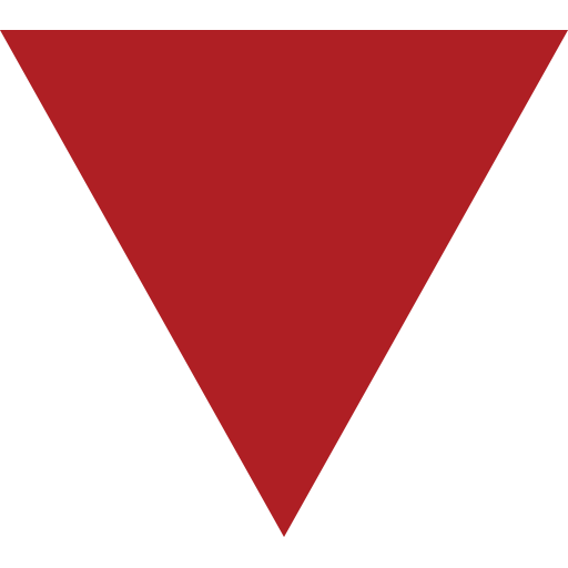 Down-Pointing Small Red Triangle