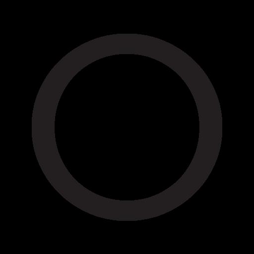 Medium White Circle