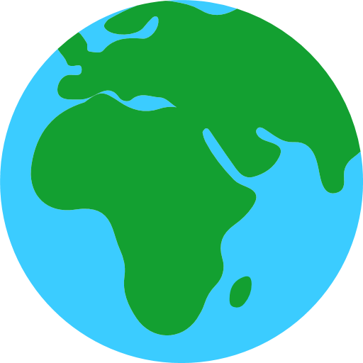 Earth Globe Europe-Africa Emoji for Facebook, Email & SMS | ID