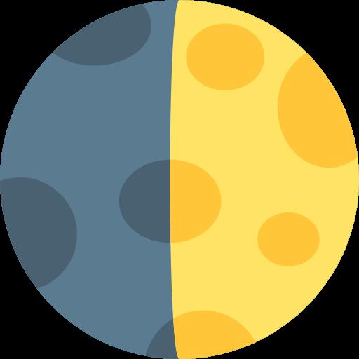 First Quarter Moon Symbol Emoji