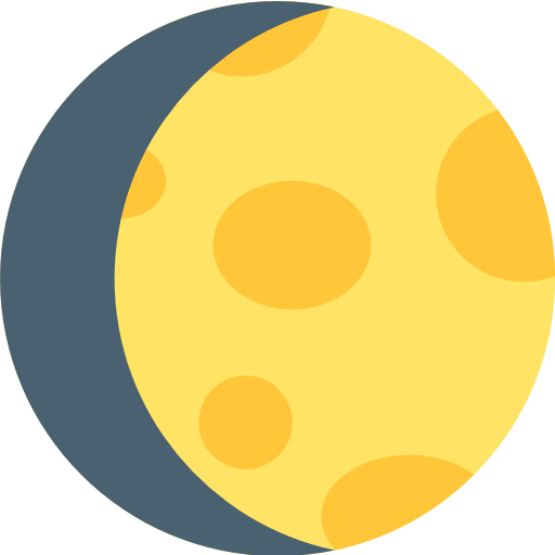 Waxing Gibbous Moon Symbol Emoji for Facebook, Email & SMS