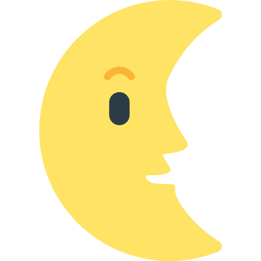 Last Quarter Moon With Face Emoji