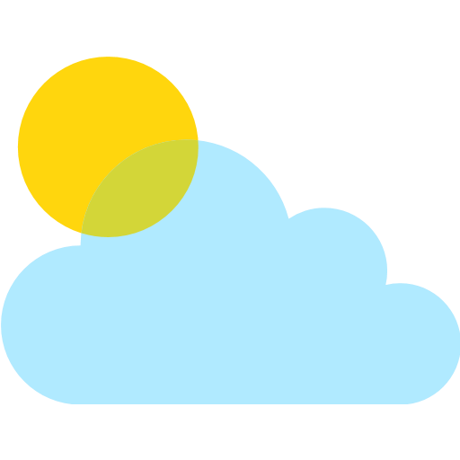White Sun With Small Cloud Emoji