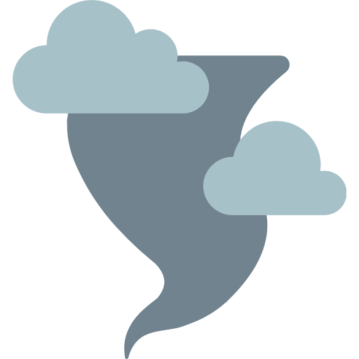 Cloud With Tornado Emoji