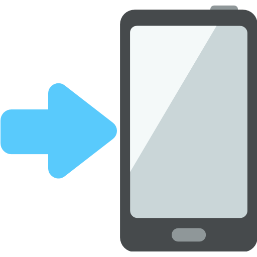 Mobile Phone With Rightwards Arrow At Left