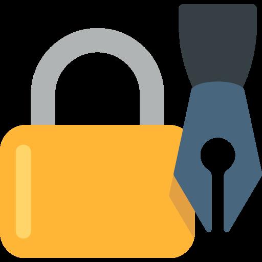 Lock With Ink Pen Emoji