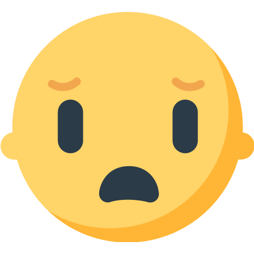 Frowning Face With Open Mouth Emoji