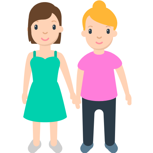 Two Women Holding Hands Emoji