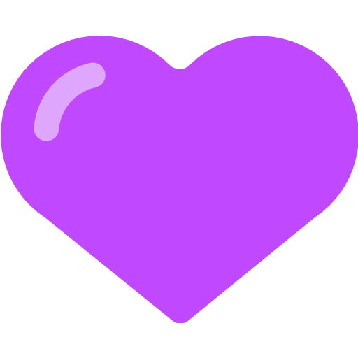 Purple Heart Emoji