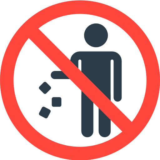 Do Not Litter Symbol Emoji For Facebook Email Sms Id 12046