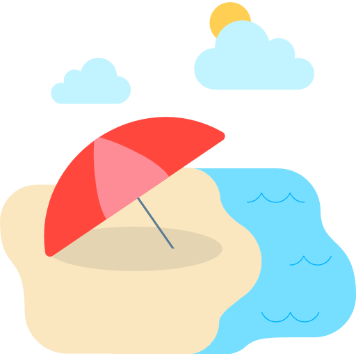 Beach With Umbrella