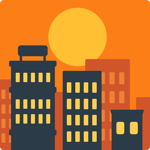 Sunset Over Buildings Emoji